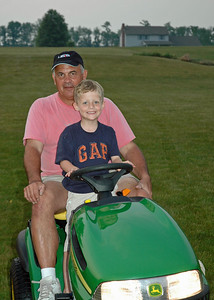 Pap & Brady on the tractor.