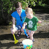 Mom and Nathan Playing with Bucket Toys