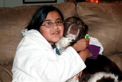 Lizbeth hugs Gopher