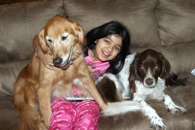 Jackie with Dogs