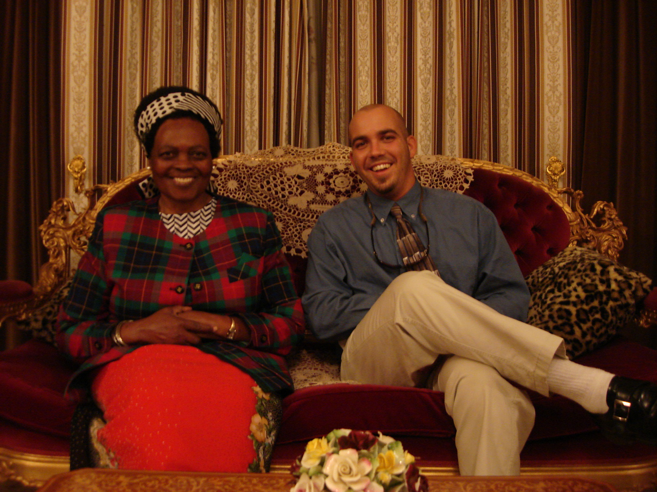 Nic and the former First Lady of Malawi.