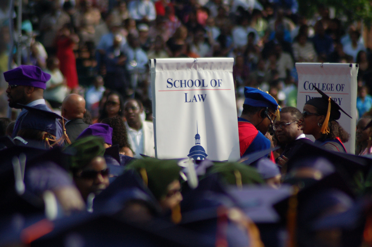 We made it!  Seeing this sign let me know it was real...our baby--er, youngest son--was going to graduate from Howard University School of Law, fulfilling a dream his grandfather once had. <br /> Photo by Isidra Person-Lynn