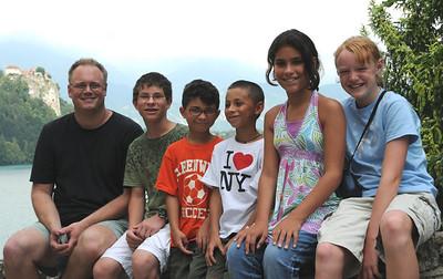 2008-08 Kirk & kids in Slovania