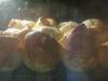 Yorkshire puddings baking.