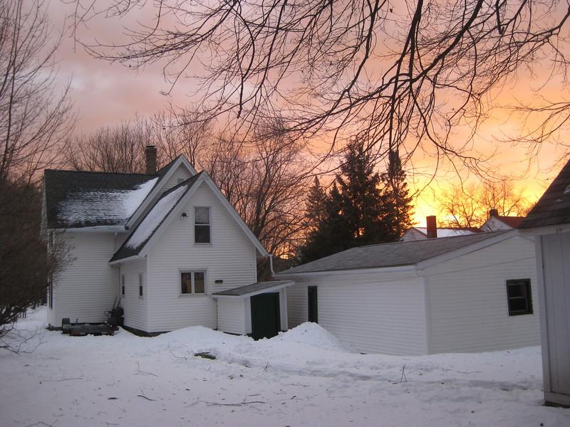 Sunrise from the back garden.