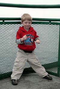 Gavin on the ferry