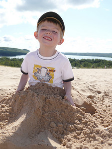 Gavin buried on the dunes