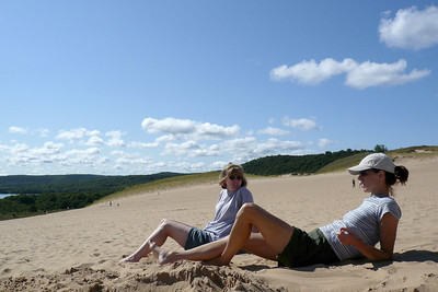 Kathy and Teresa on the dunes