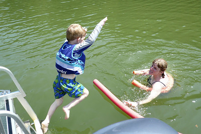 Gavin jumping in the lake