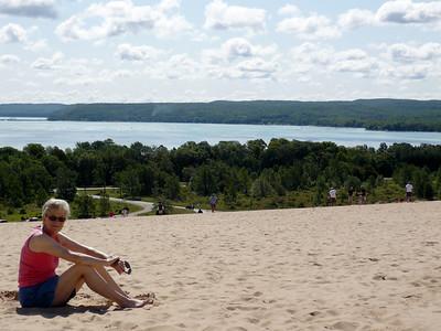 Grandma on the dunes