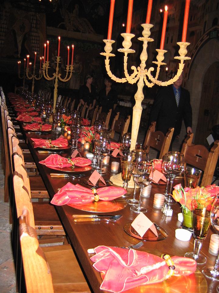 Castello Di Amorosa<br /> Set for dinner!