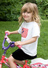 Katrina rides her bike