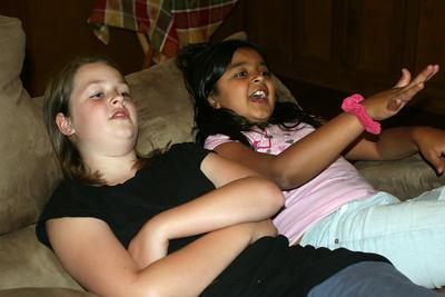 Amaya and Jackie Watching Willie Wonka