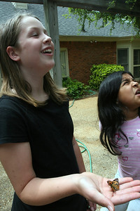 Amaya and Jackie Watch a Butterfly Go