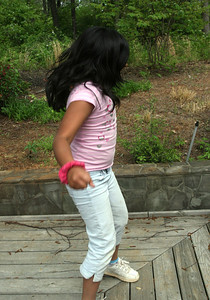 Jackie Dancing on the Deck