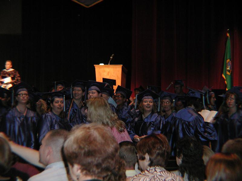 Cindi entering graduation ceromony