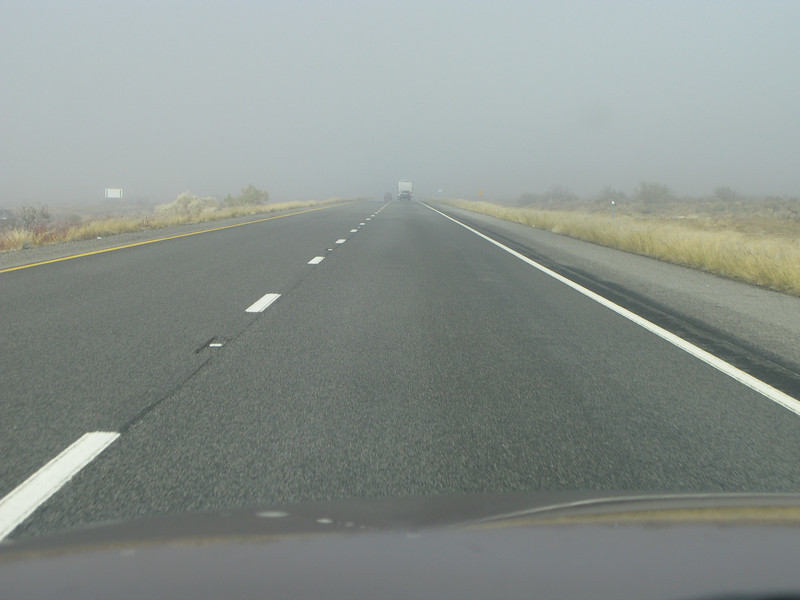 Fog on the Highway to Vegas