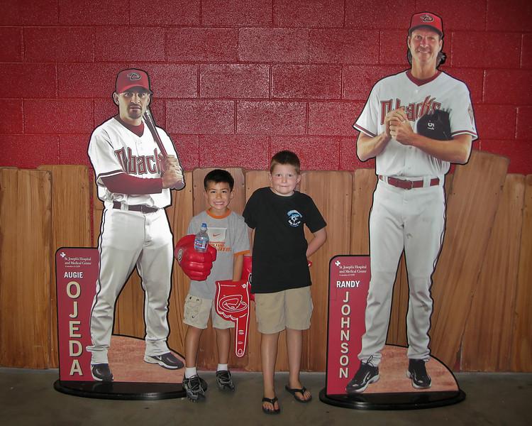 8.9.2008 -- Connor's birthday trip with Nick to the Diamondbacks game.