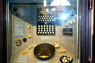 Exhibit of Gold Coins and Nuggets