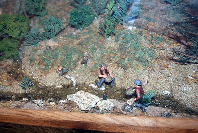 Diorama of Prospectors Panning for Gold