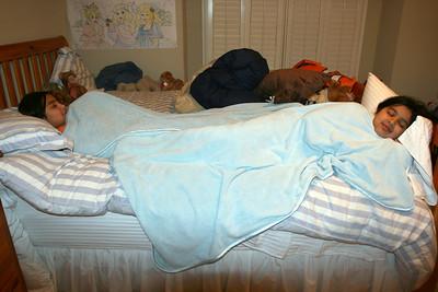 Girls Under Blankets