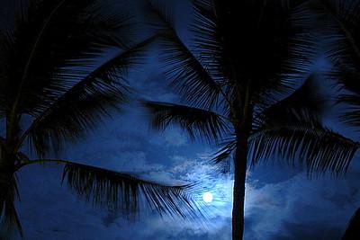 Full moon at Kalapaki - where i play vball