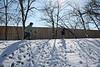 Fazendo guerra de bolas de neve!!!
