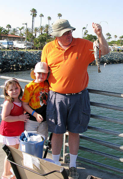 7.3.2008 - Our family vacation in San Diego.  Fishing on the Shelter Island fishing pier.