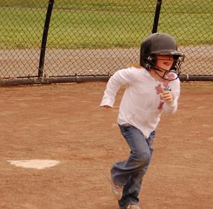 Sammi's softball practice spring 2008