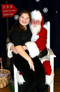 Anna with Santa