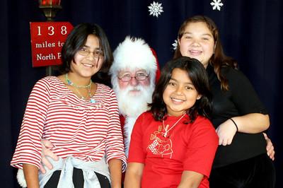 Liz Jackie and Anna with Santa