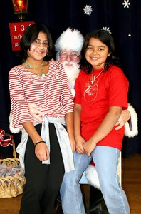 Liz and Jackie with Santa 2