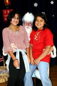 Liz and Jackie with Santa