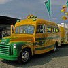 This was my favorite Oregon tailgating vehicle.  It was a converted 1950's school bus towing a travel trailer of similar vintage all painted in the Oregon colors.  They looked like they were enjoying themselves.