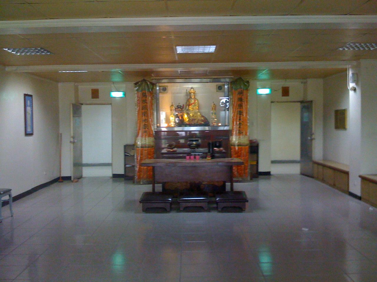 2008 11 26 Wed - One of crematorium's Buddhist ceremonial rooms