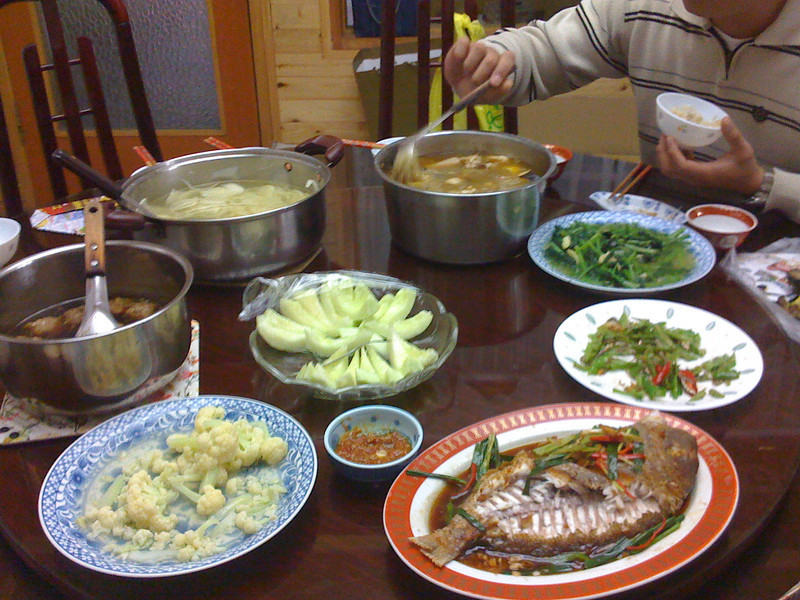 2008 11 27 Thu - Typical lunch at 2nd Uncle's house