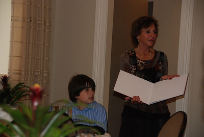 Grandmother Marlene presents Matthew with a special picture book.....