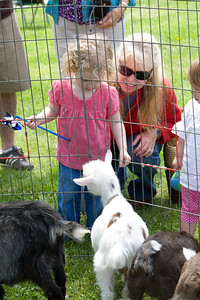 Mor Mor shows Beverly the goats