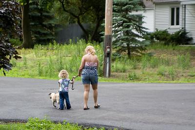 Beverly helps Mor Mor walk the Nero