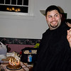 Brian Burnham blowing out the candles at his 30th birthday