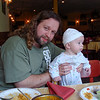Eric and Quin at Shalimar's for Father's Day