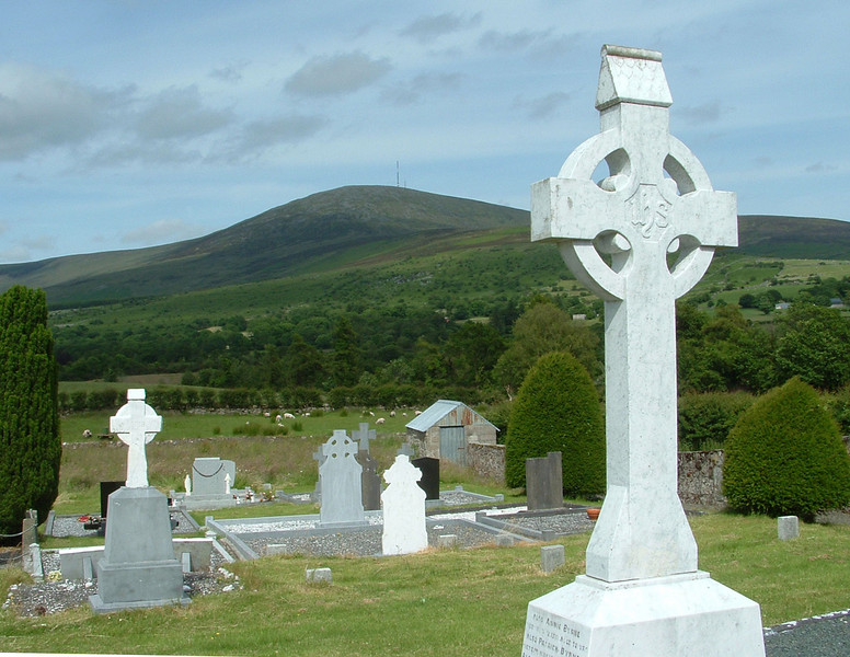 Mountain Leinster overlooks Ballymurphy cemetry