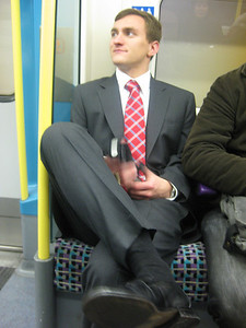 Morgan Bellmor On Underground Train • Bellmor's London GTHOOD December 2009