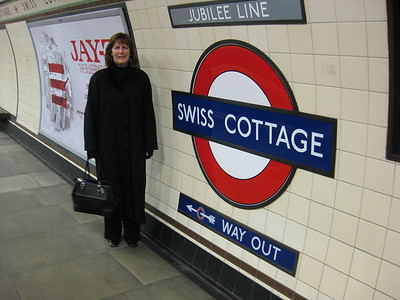 Ann Bellmor @ Swiss Cottage Underground Station London • Bellmor's London GTHOOD December 2009