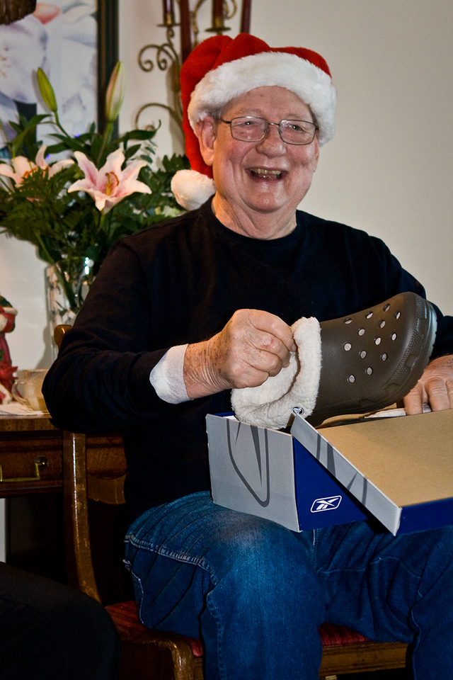 Bob seems happy with his choice of gifts