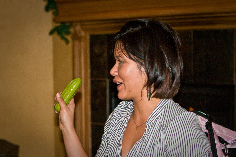 Juanita and her pickle. How did you know?