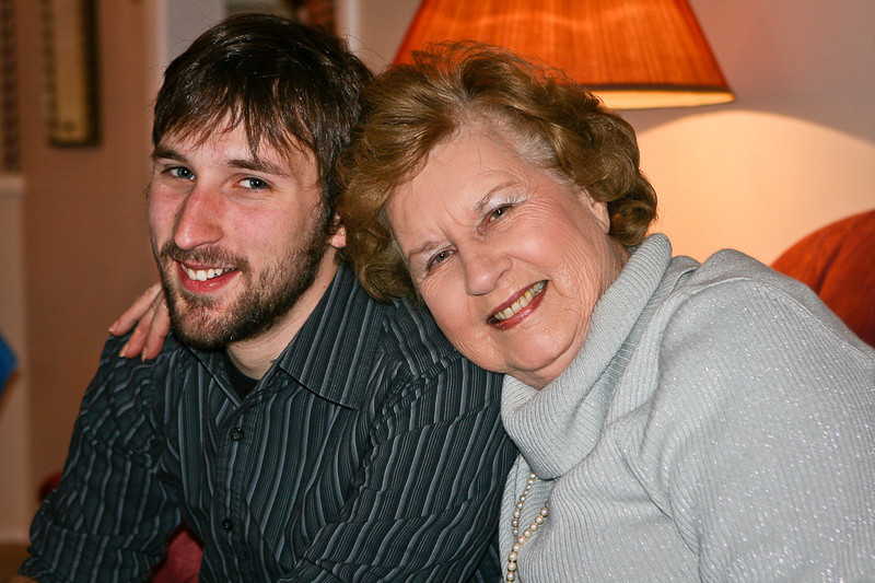 Colin and grandma Shirley