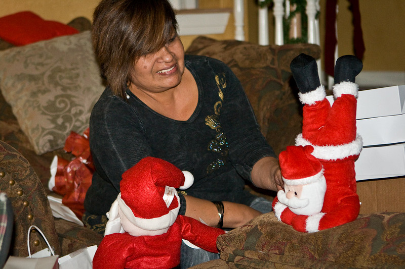 We all know that Alicia loves Santa dolls.