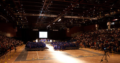 The seniors of Santa Teresa High School gather at SJSU Event Center for the Class of 2009 graduation ceremony.