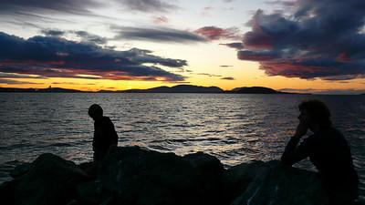 Kathy and Gavin at sunset